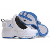 New Arrival Women's Nike Air Jordan 19 Shoes White/Sky Blue/Black