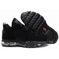 Cheap Men's Nike Air Max Jordan 4 Shoes All Black