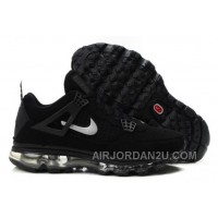 Cheap Men's Nike Air Max Jordan 4 Shoes Black