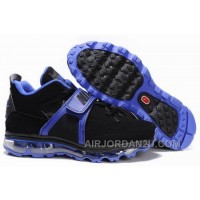 Cheap Men's Nike Air Max Jordan 4 Shoes Black/Lyons Blue