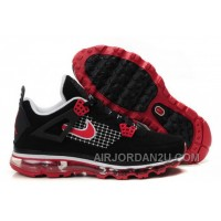Cheap Men's Nike Air Max Jordan 4 Shoes Black/Red/White
