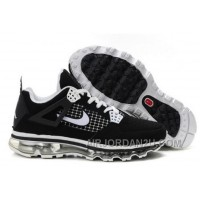 Cheap Men's Nike Air Max Jordan 4 Shoes Black/White
