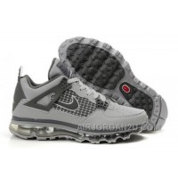 Cheap Men's Nike Air Max Jordan 4 Shoes Grey/Dark Grey