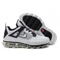Cheap Men's Nike Air Max Jordan 4 Shoes White/Black 451860
