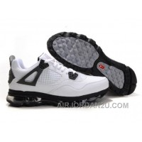 Cheap Men's Nike Air Max Jordan 4 Shoes White/Black