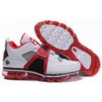 New Arrival Men's Nike Air Max Jordan 4 Shoes White/Red/Black