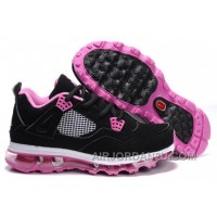 Online Women's Nike Air Max Jordan 4 Shoes Black/Pink/White