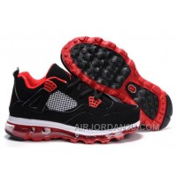 Women's Nike Air Max Jordan 4 Shoes Black/Red/White Hot