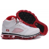 Men's Nike Air Max Jordan 5 Shoes White/Red New Arrival