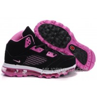 Women's Nike Air Max Jordan 5 Shoes Black/Pink/White Hot