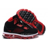 Online Women's Nike Air Max Jordan 5 Shoes Black/Red/White