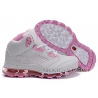 Hot Women's Nike Air Max Jordan 5 Shoes White/Light Pink 454066