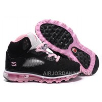 Hot Women's Nike Air Max Jordan 5 Shoes White/Light Pink