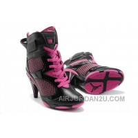 Women's Nike Air Jordan 6 High Heels Shoes Black/Pink Hot