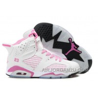 Discount Women's Nike Air Jordan 6 Shoes White/Light Pink