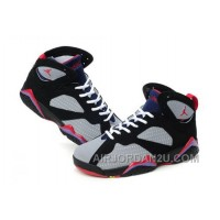 Women's Nike Air Jordan 7 Shoes Black/Grey/Red Online
