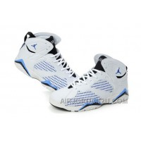 Women's Nike Air Jordan 7 Shoes White/Black/Light Blue Hot