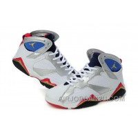 Discount Women's Nike Air Jordan 7 Shoes White/Silver/Black