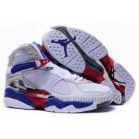 For Sale Women's Nike Air Jordan 8 Shoes White/Blue/Red