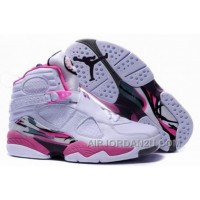 For Sale Women's Nike Air Jordan 8 Shoes White/Pink