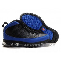 Men's Nike Air Max Jordan 9 Shoes Black/Blue New Arrival