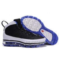 Cheap Men's Nike Air Max Jordan 9 Shoes Black/White/Blue