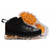 Cheap Men's Nike Air Max Jordan 9 Shoes Black/Yellow