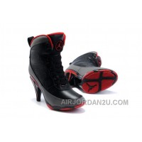 For Sale Women's Nike Air Jordan 9 High Heels Shoes Black/Dark Grey