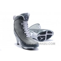 For Sale Women's Nike Air Jordan 9 High Heels Shoes Grey/Dark Grey/White