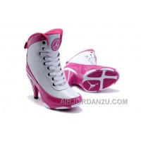For Sale Women's Nike Air Jordan 9 High Heels Shoes White/Pink