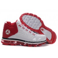 Men's Nike Air Max Jordan CP3 Shoes White/Red New Arrival