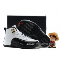 "Kids Air Jordan 12 ""Taxi"" White/Black 2016 Cheap To Buy Zcz6F"