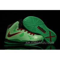 Nike Lebron 10 Kids Shoes China Limited Edition Green Christmas Deals RfWkR