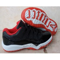 "Kids Air Jordan 11 Low ""Bred"" 2016 For Sale Authentic MayCx"
