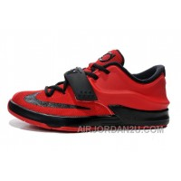 Kids Nike KD 7 (VII) Action Red/Black Cheap For Sale Online Discount ArXMH