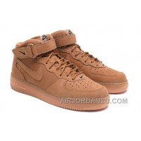 Nike Air Force 1 Mid FLAX 715889-200 Mens 2016 Top Deals