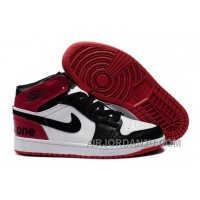 New Arrival Reduced 2013 Air Jordan 1 Retro Mens Shoes High Cut For Winter Outlet Black Red White