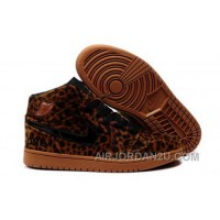 Purchase To Buy Air Jordan 1 I Leopard Mens Shoes Fur Inside For Winter Online Brown Cheap