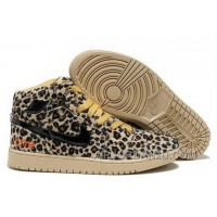New Purchase 2012 Nike Air Jordan 1 I Leopard Olympics Mens Shoes Cheetah Brown Yellow Online