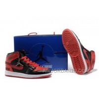 New France Online Warm High Cut Air Jordan 1 I Retro Mens Shoes Fur Inside For Winter Black Red