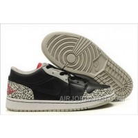 New Greece Nike Air Jordan 1 I Mens Shoes Low 2012 Outlet Online Black Cemenst Grey