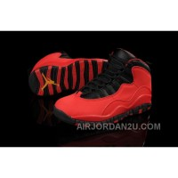Discount Code For Nike Air Jordan 10 X Mens Shoes Gs Fusion Red New