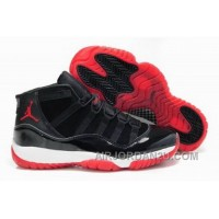 Where Can I Buy For Sale Air Jordan 11 Mens Shoes Fur For Winter Online Black Red Hot