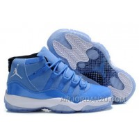 Get Nike Air Jordan Xi 11 Mens Shoes Sky Blue White Hot