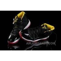 Greece To Buy Popular Air Jordan 11 Xi Retro Mens Shoes For Winter Black Red Yellow Discount