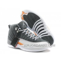 Spain For Sale Air Jordan 12 Mens Shoes Online Grey And White New
