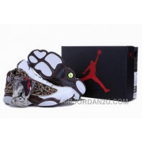 For Sale France Hot Sell New Air Jordan 13 Xiii Mens Shoes 2013 Online Lepord White