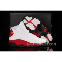 Cheap Low Cost 2013 New Nike Air Jordan Xiii 13 Mens Shoes White Red