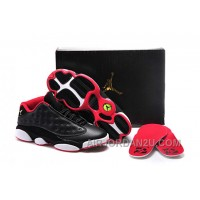 Cheap Inexpensive Order 2015 New Nike Air Jordan Xiii 13 Mens Shoes Black White Red