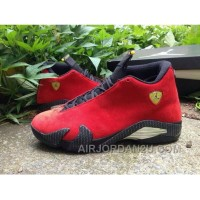 Sale Nike Air Jordan Xiv 14 Retro Mens Shoes Ferrari Chinese Red Black For Sale